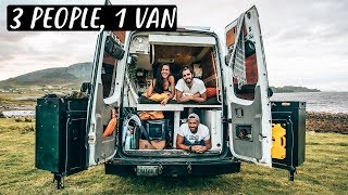 3 PEOPLE LIVING IN A VAN | Van Life in Scotland 🏴󠁧󠁢󠁳󠁣󠁴󠁿