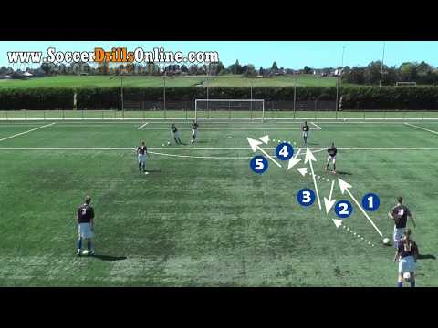 Soccer passing drill (rectangle) | 6 positions | Soccer Drills Online