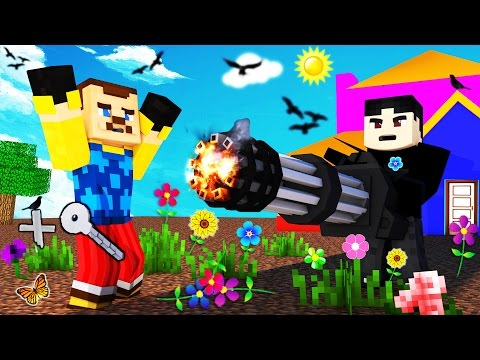 Minecraft - HELLO NEIGHBOR - BLOW UP THE NEIGHBOR?!
