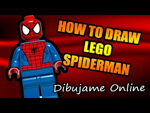 How To Draw Lego Spiderman How To Draw Lego Spiderman Step By Step