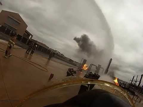 Industrial fire master stream