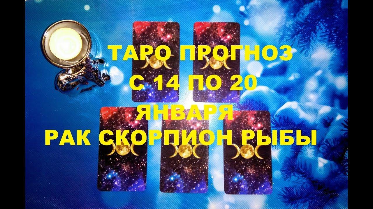 Таро прогноз на неделю с 14 по 20 января 2019 г. Рак, Рыбы, Скорпион.