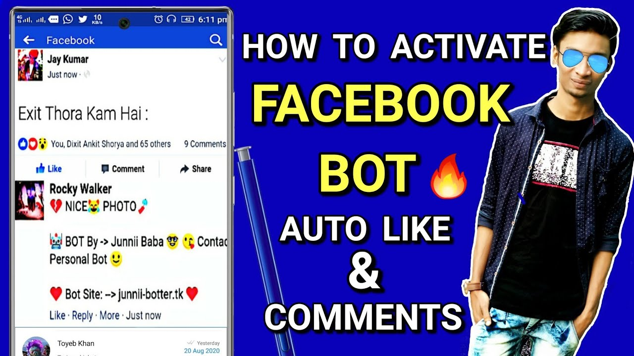 How to activate Facebook bot auto like, auto comment 2019