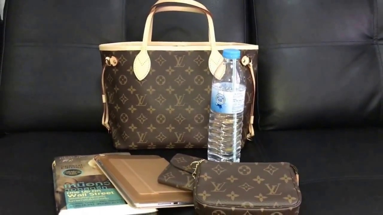 what s in my bag - Louis Vuitton neverfull pm - YouTube 046c977c8111e