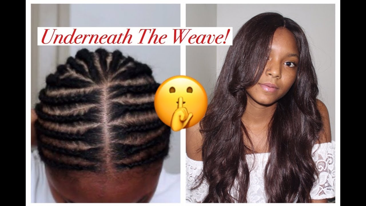 Middle Part Sew In Braid Pattern New Inspiration