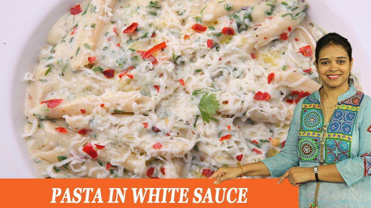 Recipe of pasta in white sauce