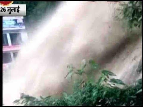 Kempty Falls in Uttarakhand swollen post rainfall