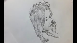 How to draw face for beginners step by step/pencil sketching (very easy)