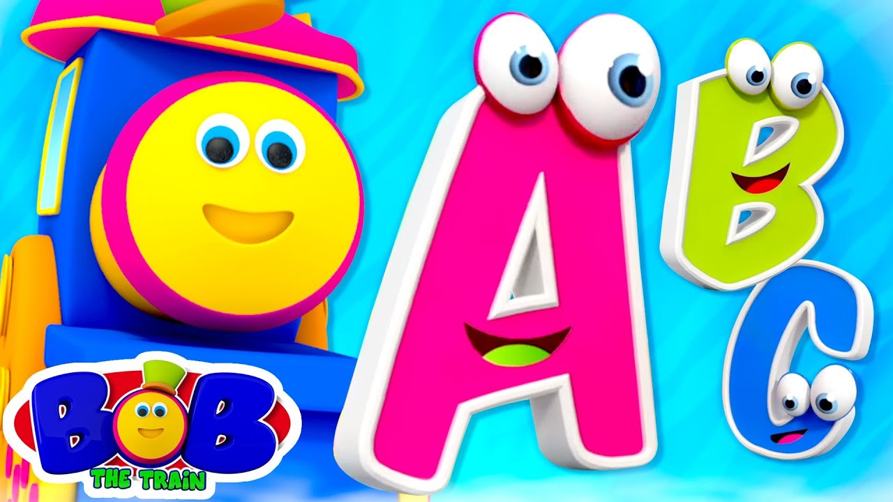 ABC Song | Alphabet Songs For Kids | Nursery Rhymes and Kindergarten Song with Bob the Train