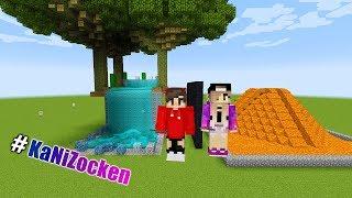 KAANS WASSERFALL vs NINAS VULKAN! Wasser VS Feuer - Duell in der Natur! Minecraft Buld Battle