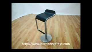Interiorexpress Equino Lem Black Adjustable Piston Bar Stool