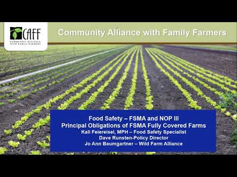 Requirements for Farms that Must Fully Comply with FSMA Part