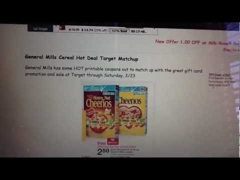 Target GM Cereal Printable Coupons Gift Card HOT Deal