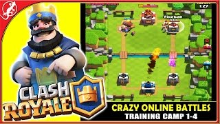 CLASH ROYALE : New Masterpiece from Clash of Clans Creator !!! (Training Camp 1-4 iOS Gameplay)