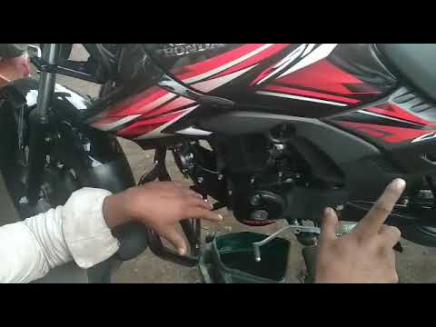 honda shine sp 125cc engine oil change