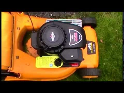 Briggs and stratton 450 series  Warm start and mow  YouTube
