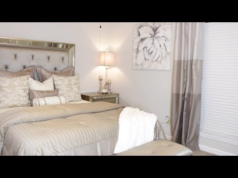 SIMPLE GLAM MASTER BEDROOM MAKEOVER| SMALL SPACE DECORATING IDEAS |Decorate With Me