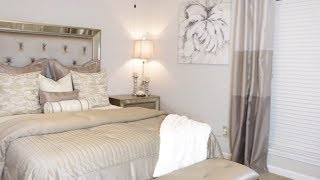 SIMPLE GLAM MASTER BEDROOM MAKEOVER| SMALL SPACE DECORATING IDEAS