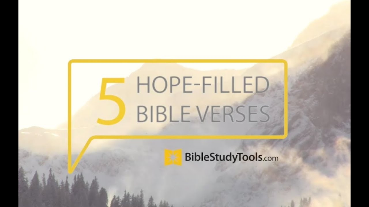 25 Top Bible Verses About HOPE - Encouraging Scripture Quotes