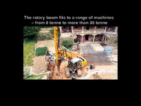 Rotary Drill Rig KR 36 With Earth Auger Attachment