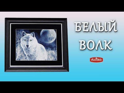 Набор для вышивания Золотое Руно Белый волк ДЖ-029, обзор готовой вышитой картины
