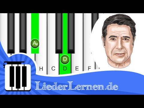 Udo Jürgens - Aber bitte mit Sahne - Klavier lernen - Musiknoten - Akkorde