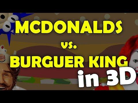 McDonald's vs. Burger King in 3D!!!!