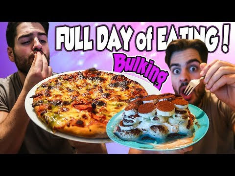 Full Day of Eating LEAN BULK | Pizza & Healthy Tiramisu | Enjoy YOU Life!!