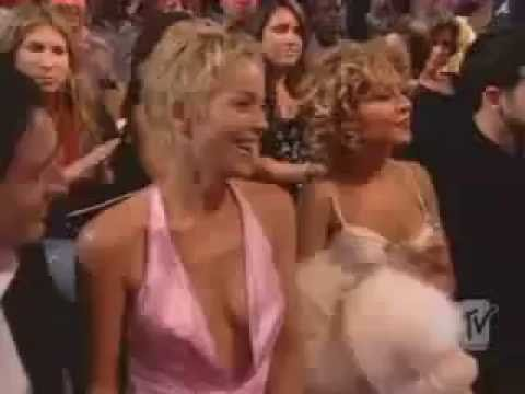 Christina Aguilera Lindsay Lohan Sharon Stone MTV Movie Awards 2004