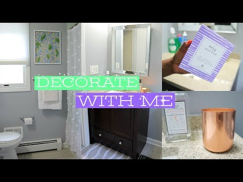 DECORATE WITH ME BATHROOM ! HOME GOODS DECOR HAUL + DIY FLOATING BOTANICAL WALL ART