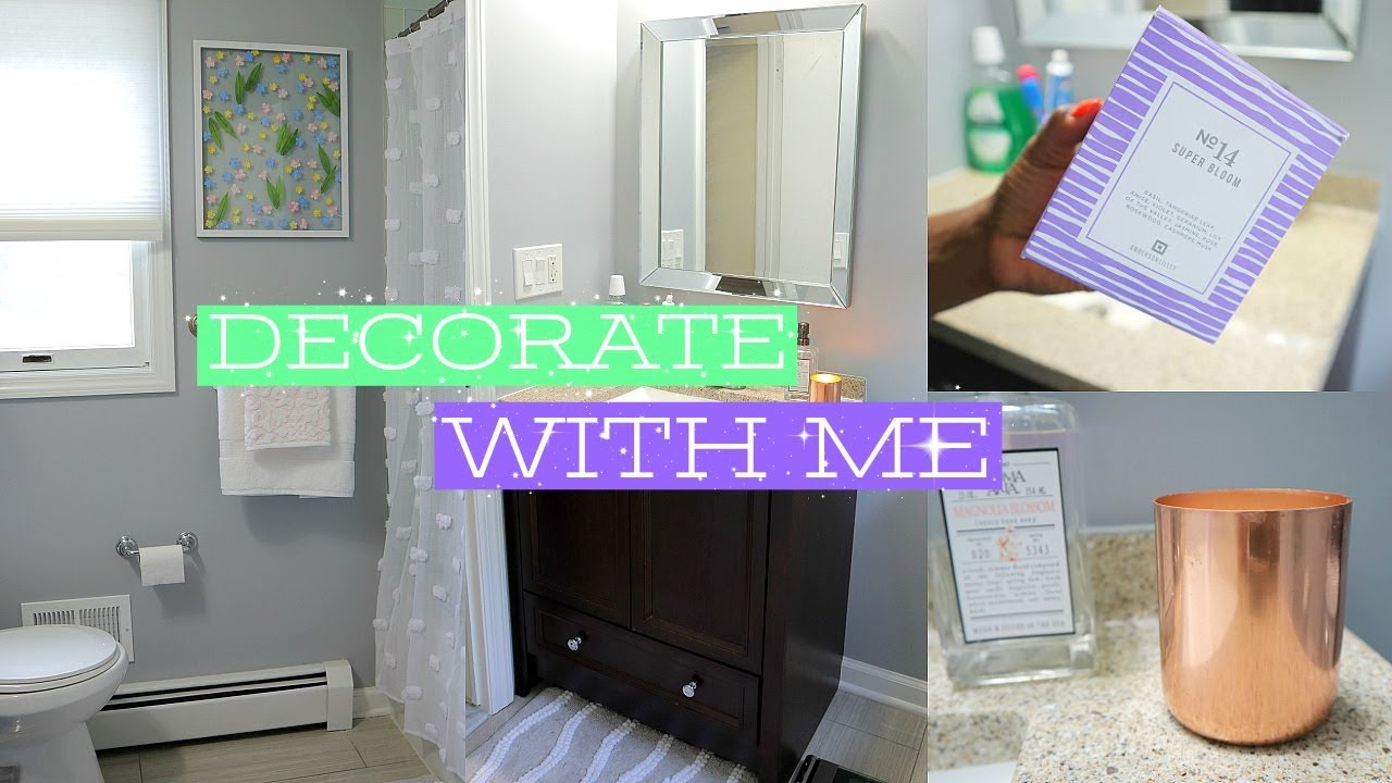 Decorate With Me Bathroom Home Goods Decor Haul Diy