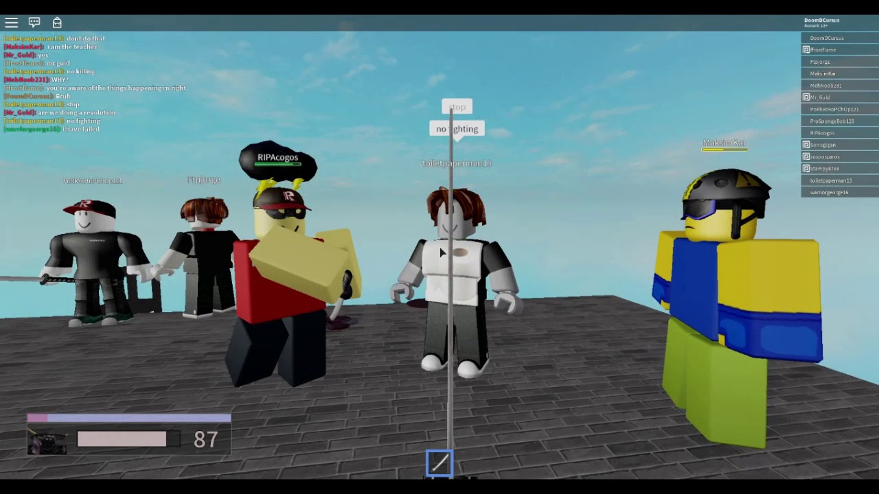 Playing Some Roblox Blood Engine Youtube
