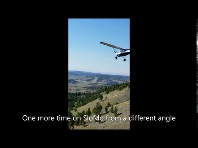 Cessna 170B Missouri Breaks  Cow Creek Take Off