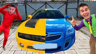 Camaro TURNED in Opel Insignia OPC! Mr. Joe found Magic Blanket VS Red Man on Corvette 13+