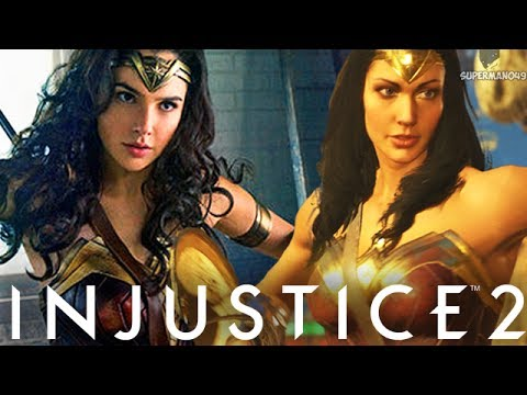 "SICK COMBO! EPIC WONDER WOMAN MOVIE GEAR - Injustice 2 ""Wonder Woman"" Gameplay"