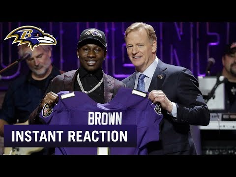 Instant Reaction to Hollywood Brown Pick | Baltimore Ravens