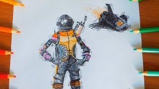 Drawing NEW DARK VANGUARD WITH A SCAR AND DEEP SPACE LANDER SKINS | FORTNITE | KRS Drawings