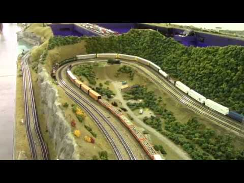 Liberty National Z Scale Model Train Layout, Mable MN 2017