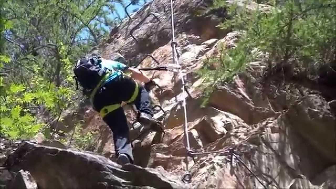Klettersteig Lehner Wasserfall : Klettersteig lehner wasserfall 2013 tirol oetztal youtube