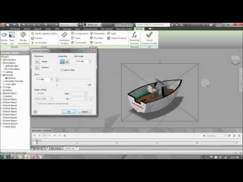 Making a rendered animation in Autodesk Inventor