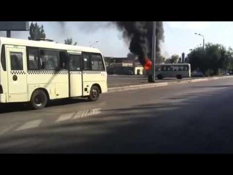 Маршрутка сгорела в Ростове