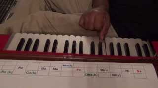 108 Harmonium Lessons for Beginners - Indian  note naming system