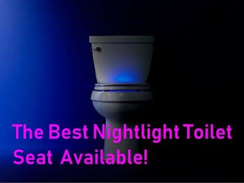 Kohler Nightlight Quiet Close Toilet Seat Youtube