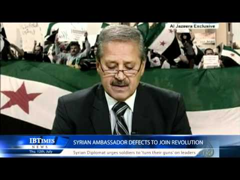 Syrian Ambassador defects to join revolution