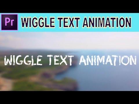 Wiggle Text Animation - Adobe Premiere Pro Tutorial thumbnail