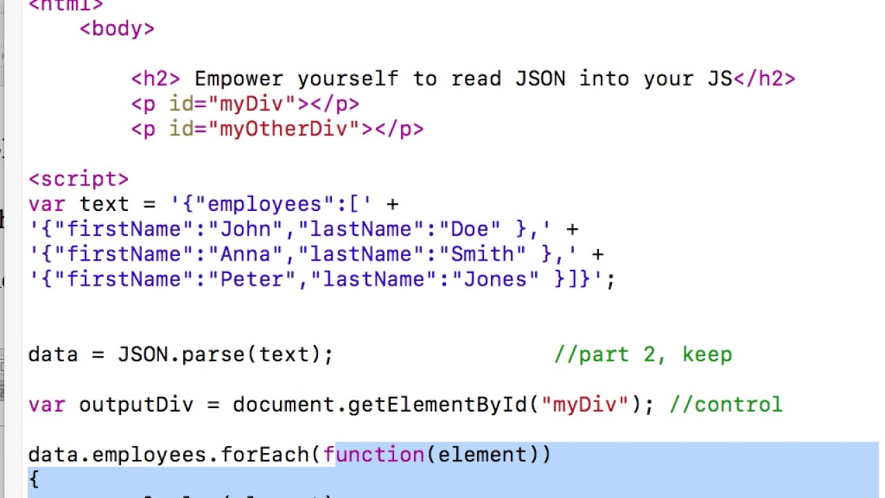 unit4: ForEach and JSON array traversal
