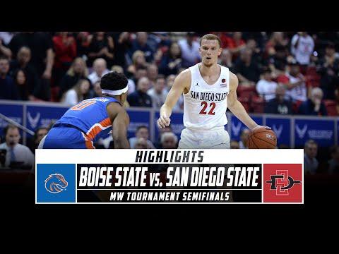 Boise State Vs. San Diego State Highlights - MW Men's Basketball Tournament Semifinal (2020)|Stadium