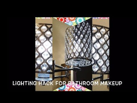 Diy with fancienanc lighting hack for bathroom makeup youtube diy with fancienanc lighting hack for bathroom makeup mozeypictures