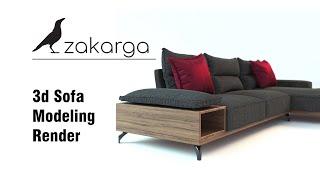 3d Sofa Modeling I Render
