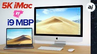 2018 i9 MacBook Pro vs 2017 5K iMac - Performance Comparison!